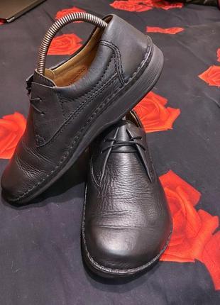 Туфли ботинки birkenstock 40p кожаные черные
