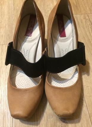 Кожаные туфли с ортопед стелькой