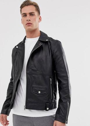 Кожаная куртка barneys originals