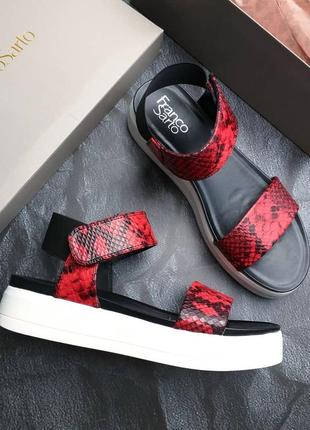 Franco sarto оригинал красные сандалии на платформе