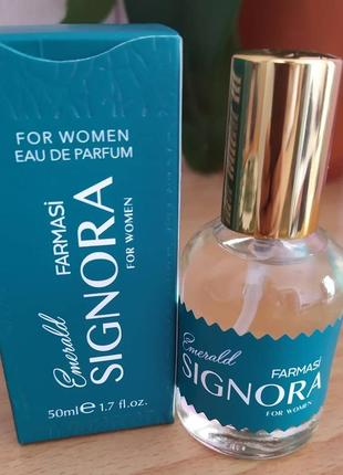 Женская парфумирована вода signora emerald 50 мл