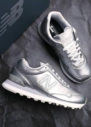 New balance оригинал серебристые кроссовки модель 515
