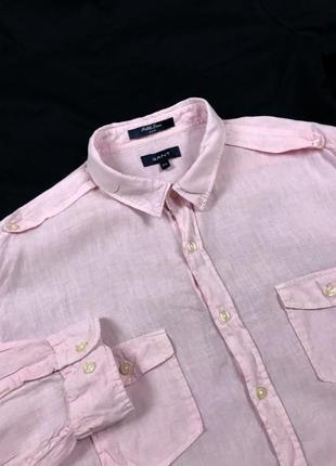Льняная рубашка gant