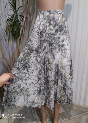Красивенная юбка миди плиссе дымчатая