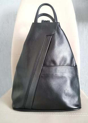 Женский рюкзак сумка из натуральной кожи, рюкзак vera pelle, кожаный рюкзак