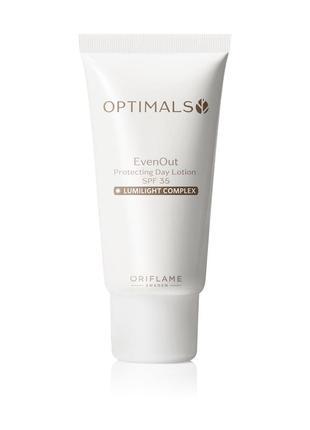 Защитный крем флюид против пигментации spf 35 optimals even out day lotion 32478