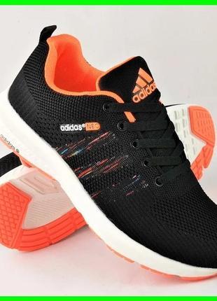 Кроссовки adidas neo чёрные адидас мужские