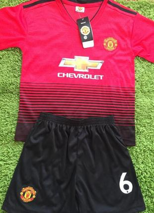 Детская футбольная форма manchester united pogba 6