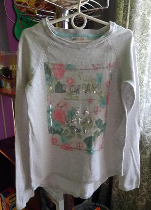 Легкий свитер h&m 10-12лет 146 см