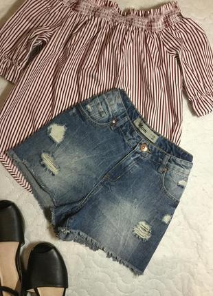 Шорты джинсовые мом new look размер 10/12
