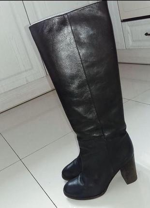 Сапоги ботфорты massimo dutti кожаные оригинал 38 р uterque maje sandro