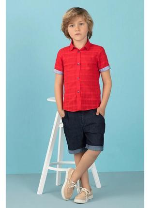 Красная рубашка, 100% хлопок