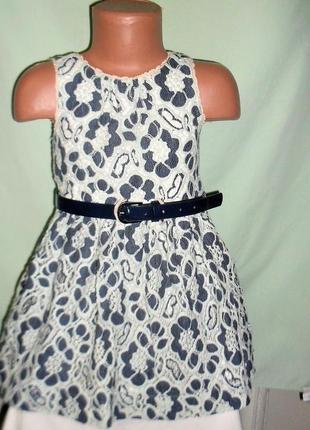 Кружевное платье некст на 3-5лет