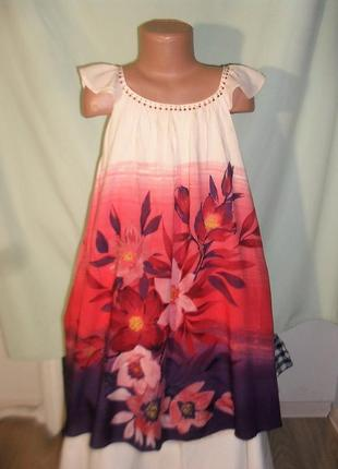 Легкое нарядное платье на 9-10лет