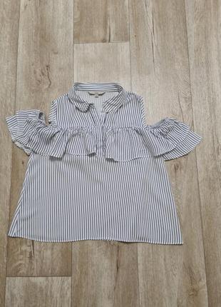 Натуральная блуза рубашка