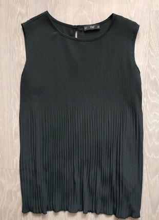 Блуза плиссе черная