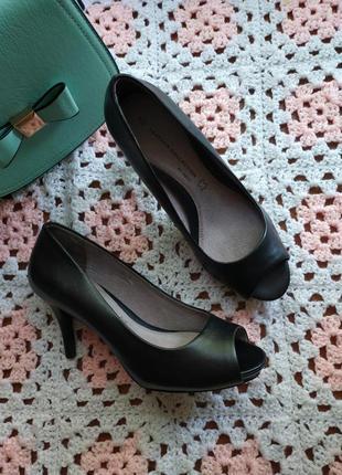 Женские кожаные туфли с открытым носком next