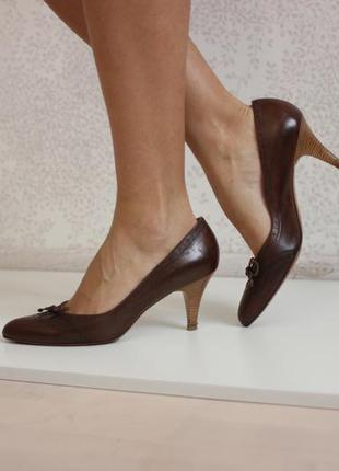 Кожаные туфли лодочки оксфорды, натуральная кожа полность, дорогой бренд peter kaiser
