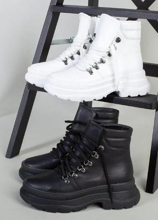 Деми и зимние  кожаные ботинки