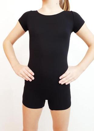 Купальник, трико, комбинезон с шортиками для танцев, тренировок рост 98-165 см
