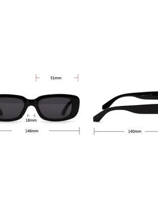Качественные солнцезащитные очки черные ретро винтаж тренд 60-е сонцезахисні окуляри8 фото