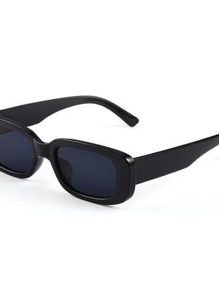Качественные солнцезащитные очки черные ретро винтаж тренд 60-е сонцезахисні окуляри7 фото