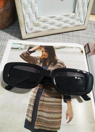 Качественные солнцезащитные очки черные ретро винтаж тренд 60-е сонцезахисні окуляри10 фото