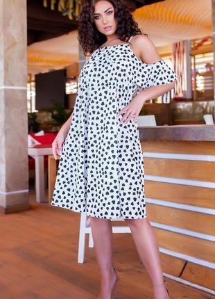 Нежное платье свободного кроя большие размеры