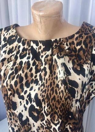 Леопардова сукня з ремінцем