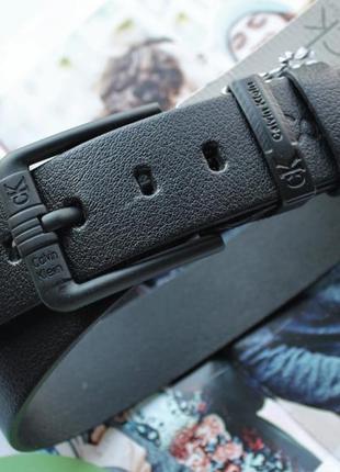 Кожаный качественный ремень для джинсов 115 см
