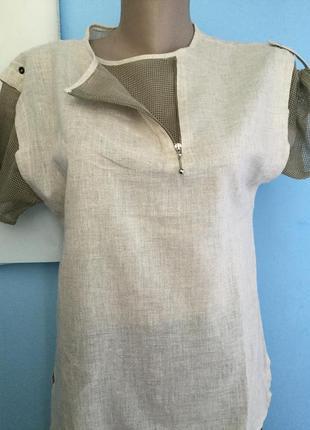 Блузка лен с хлопком le truc