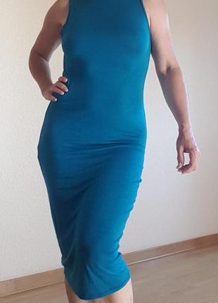 Платье американка бирюзового цвета  вискоза