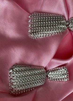 Сережки в серебре