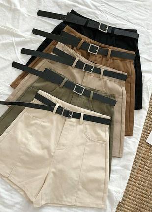 Котоновые шорты+ ремень