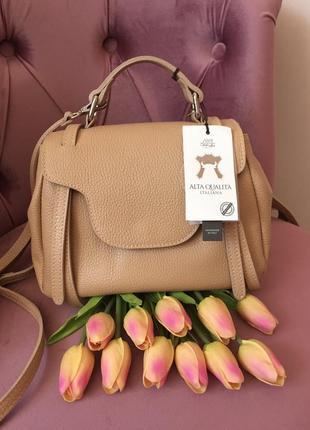 Кожаный мини рюкзак италия натуральная кожа