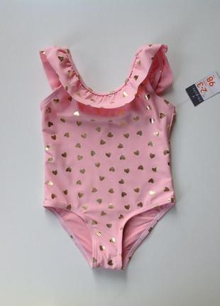Фирменный сдельный нежно-розовый купальник 👙 primark