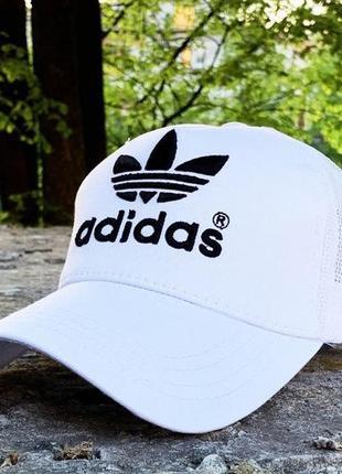 Бейсболка, кепка adidas белая