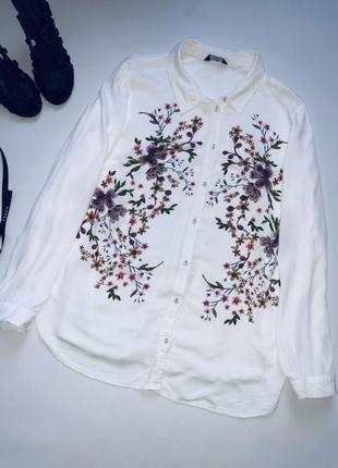 Шикарная белая блуза на пышную модницу!