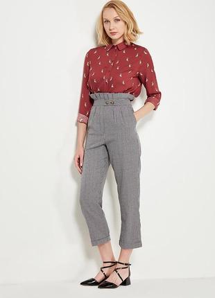 Класні брюки topshop міленька клітинка,тонкі, розмір s-m,просто комфорт🔥🔥🔥