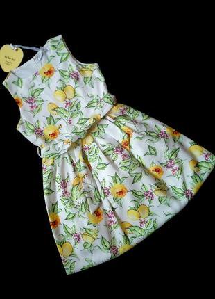 Нарядное шикарное в цветах платье для девочки 9 лет. новое. италия to be too