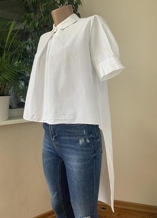 Стильная рубашка с разной длинной