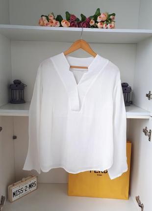 Стильная хлопковая  рубашка длинный рукав