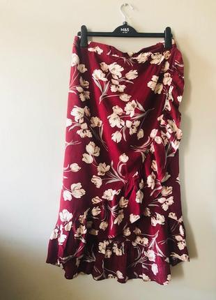 Женственная легкая юбка из вискозы / на запах