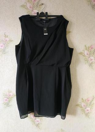 Женское платье большого размера # чёрное платье # f&f