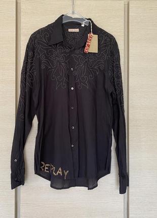 Рубашка мужская премиум батист replay размер xl