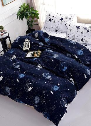 Постельное белье бязо голд космос космонавт планеты