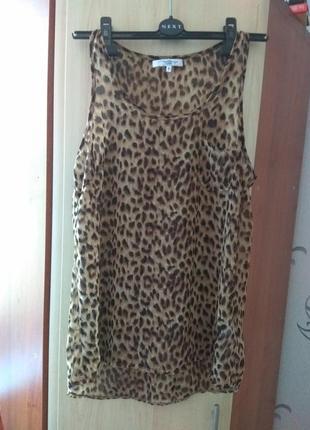 Женская шифоновая блузка в леопардовый принт new look