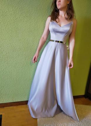 Вечернее платье, выпускное платье, свадебное платье, пепельное платье