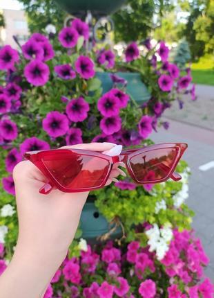 Модные ретро очки 2020 солнцезащитные красный цвет лисички