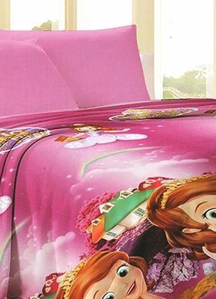 Детский плед велсофт (микрофибра) тм tag disney принцесса софия